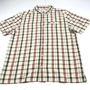 columbia hiking outdoor plaid shirt